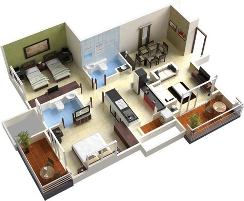 floor plan in 3d home design d house designs and floor plans botilight 3d