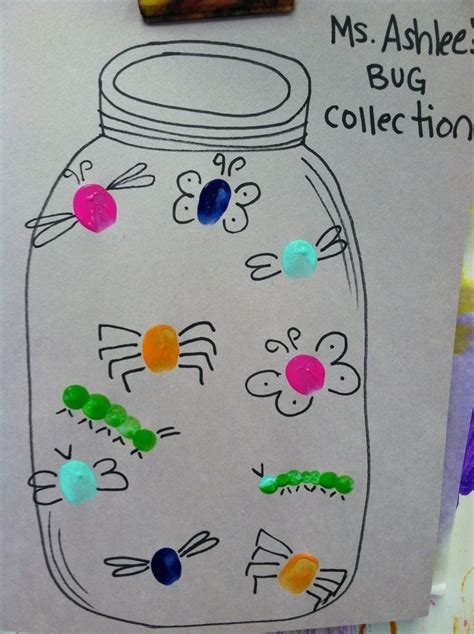 bug crafts for image result for with fingertips for preschoolers