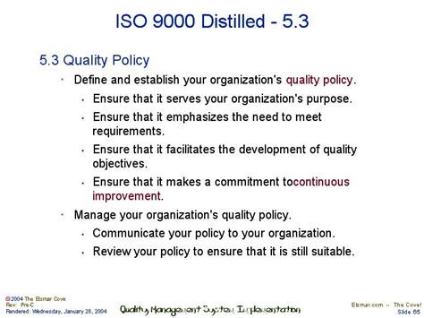 iso 9000 template iso 9001 distilled 5 3 quality policy