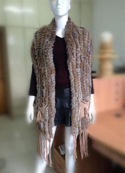 Handmade Waistcoats - sale fur waistcoat handmade knitted rabbit fur