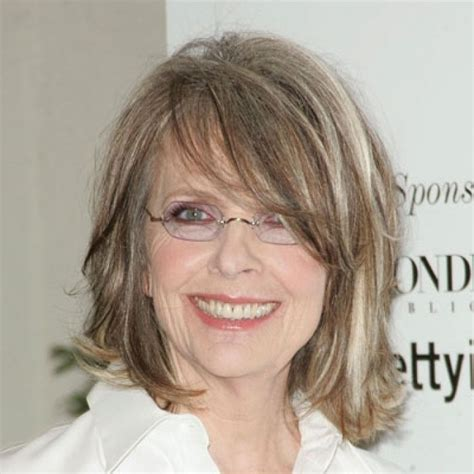 diane keatons layer cut diane keaton actors pinterest