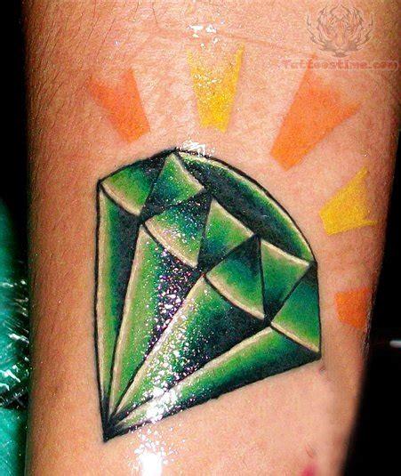 green ink diamond tattoo