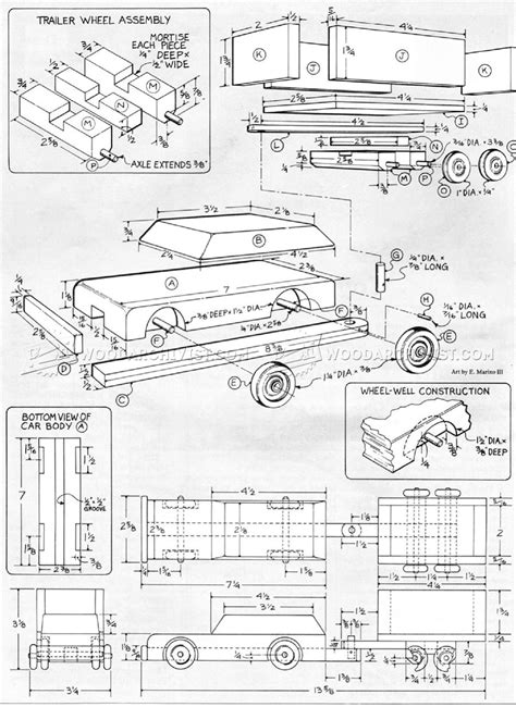 car plans wooden car and trailer plans woodarchivist