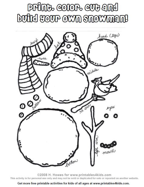 printable olaf build a snowman 7 best images of build a snowman printable printable