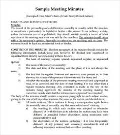 template of minutes of meeting meeting notes template 9 free documents in pdf