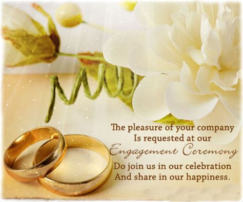 Wedding Ring Blessing Wording by 47 Engagement Invitation Designs Free Premium Templates