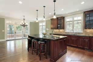 Kitchens With Cherry Cabinets And Wood Floors Pictures Of Kitchens Traditional Wood Kitchens Cherry Color Page 2