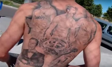 cristiano ronaldo tattoos cristiano ronaldo fan gets ronaldo tattoos on