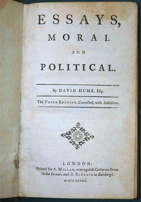 David Hume Essays by Cabinet 03 Politics Philosophy A Stab At The Eighteenth Century