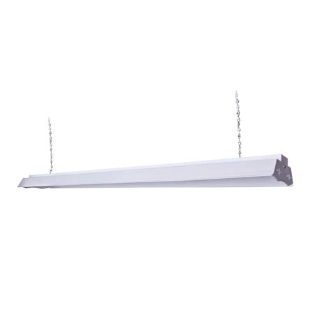 Shop Lighting Fixtures Shop Utilitech Linear Shop Light Common 4 Ft Actual 6 85 In X 48 13 In At Lowes