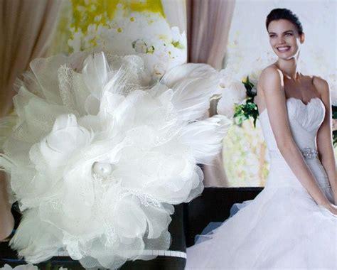 Bridal Faux Pearl Hair Clip bridal big organza flower headpiece faux pearl
