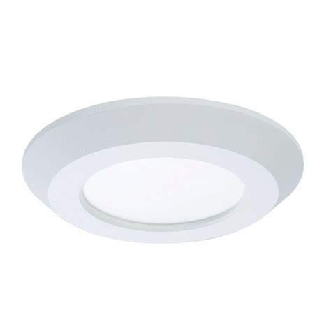 Halo Light Fixtures Halo Sld 4 In White Integrated Led Recessed Retrofit Ceiling Mount Light Fixture With 90 Cri