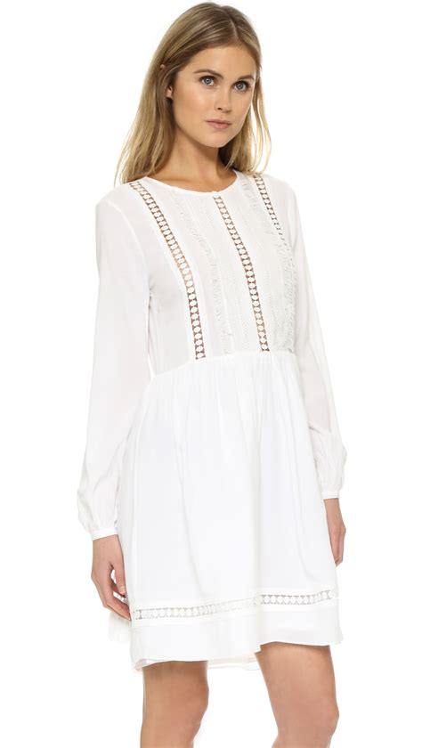 lyst factory lace dress in white