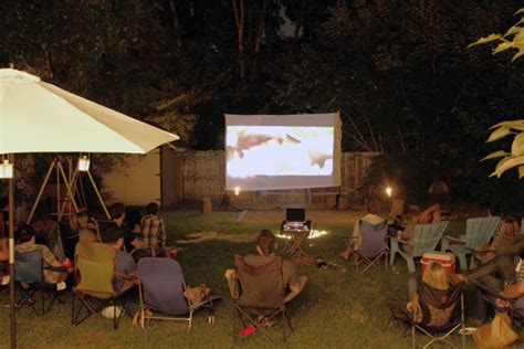 backyard movie night rental how to throw the perfect outdoor summer party porta