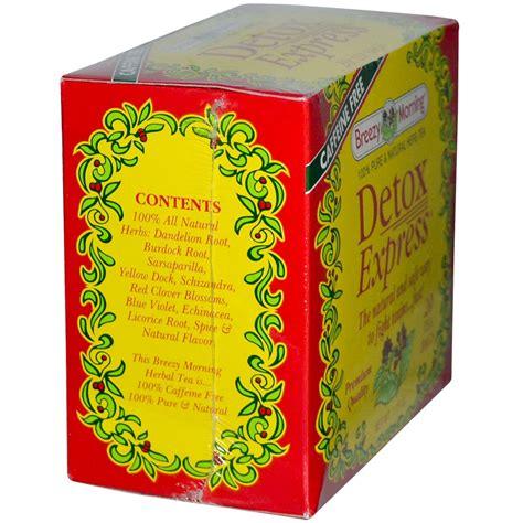 Blooms Detox Tea Bags Review by Breezy Morning Teas Detox Express Tea 20 Tea Bags