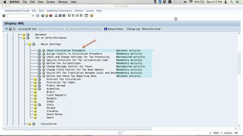 tutorial sap fico sap tax configuration tutorial free sap fi training