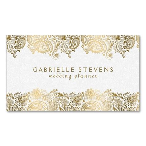 Wedding Card Design Company by Gold On White Paisley Wedding Planner Business