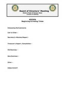 of board template sle board meeting agenda for a company best agenda
