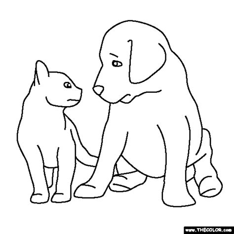 puppy kitty coloring pages kitten puppy coloring pages www pixshark com images