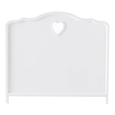 t 234 te de lit en bois blanc l 140 cm maisons du