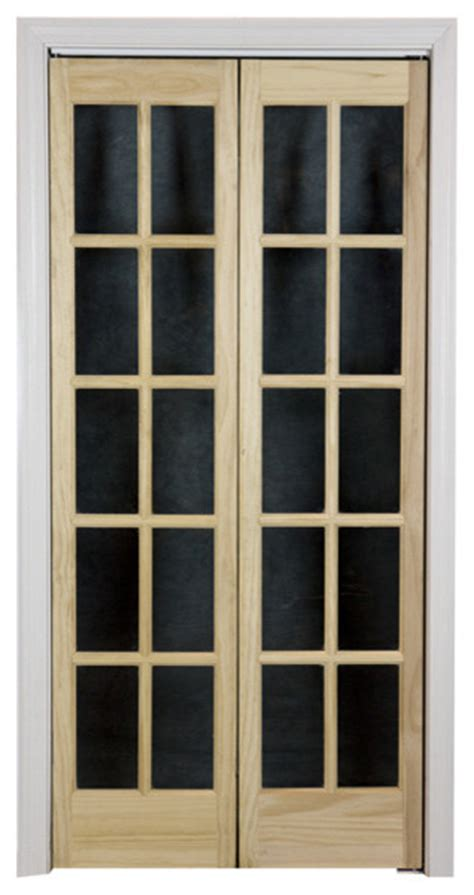 32x80 Door by Traditional Divided Glass 32x80 5 Inch Unfinished Bifold