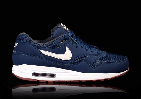 Nike Airmax 1 Blue Navy nike air max 1 essential navy light bone price 115 00 basketzone net