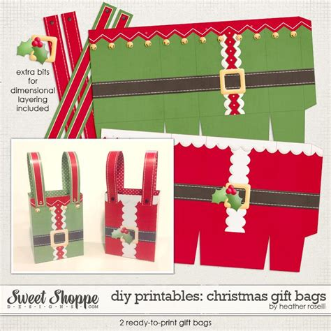 printable christmas paper bags 66 best diy paper gift box bag templates projects