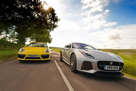 what type of car does porsche from atlanta housewives have jaguar f type svr vs porsche 911 turbo auto express
