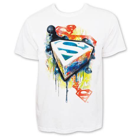 Tshirt Supermen White superman graffiti white graphic t shirt