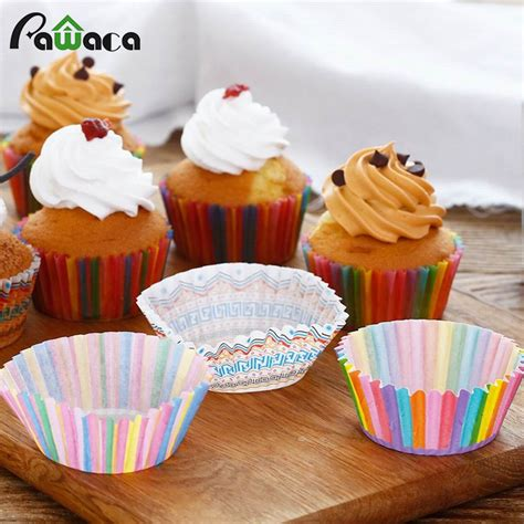 Sale Seven Paper Cake De Mould 20cm Bake And Cook 500 Lembar aliexpress buy 100 pcs cupcake baking cup paper cupcake muffin boxes baking tray cake mold