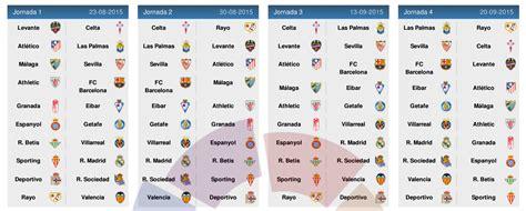 Calendrier Liga 2015 16 La Liga 2015 2016 Search Results Calendar 2015