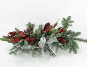Christmas silk flower arrangements