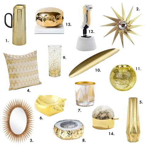 gold home decor accessories color pop gold home accessories decor design necessities