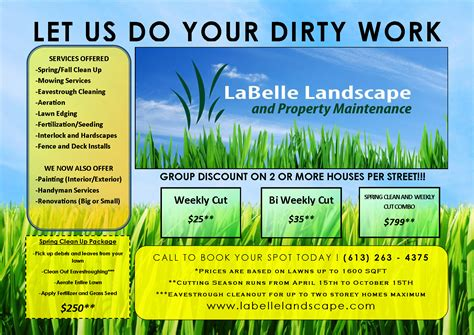 lawn care advertising 15 lawn care flyers free examples