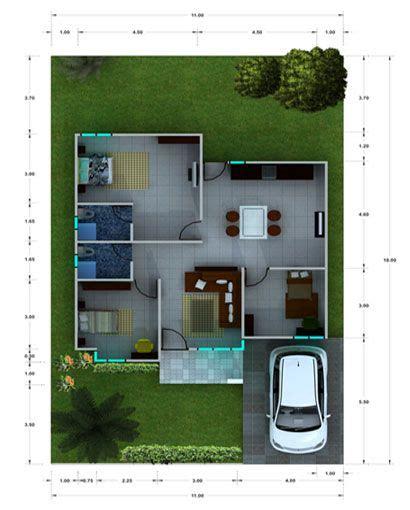 desain rumah mungil minimalis modern sketch  home small house floor plans house design