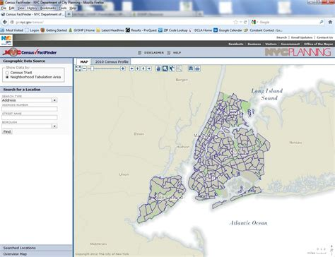 Census Finder Nyc Department Of City Planning Launches New Census Data Map