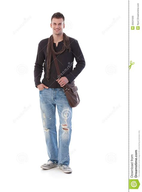 Would You Wear A Mans Clothes in casual clothes smiling stock photo image