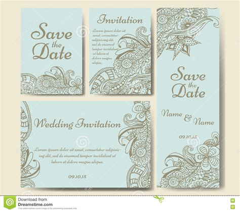 illustrator template thank you card card vector template for wedding set of invitations for