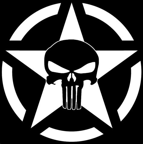 jeep army decals military star jeep punisher skull decal vinyl sticker
