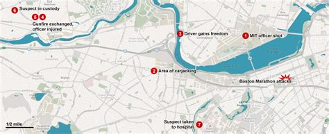 boston marathon route map sighting white blue hoodie backpack