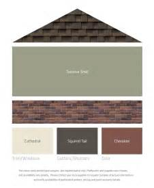 fresh color palettes for a brown roof