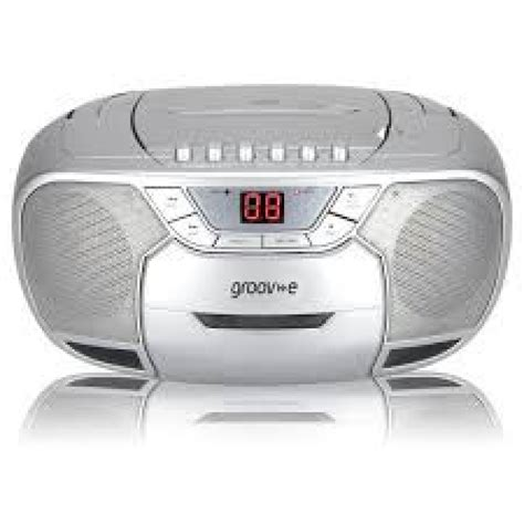 cassette player boombox groove gvps823sr boombox cd am fm radio cassette player