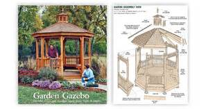 Outdoor Gazebo Plans by Garden Gazebo Plans Woodarchivist