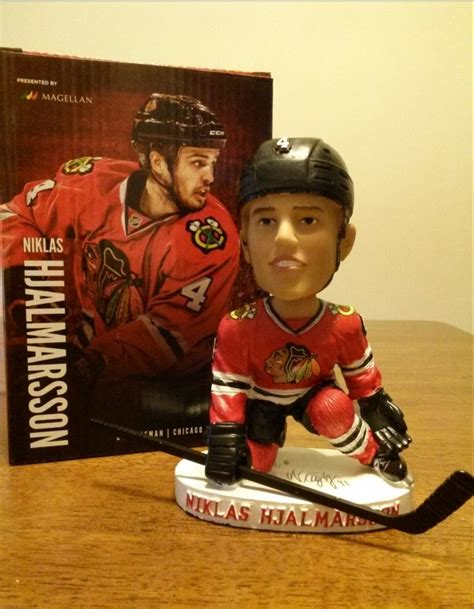 Blackhawks Giveaways 2017 2018 - february 24 2015 chicago blackhawks niklas hjalmarsson bobblehead