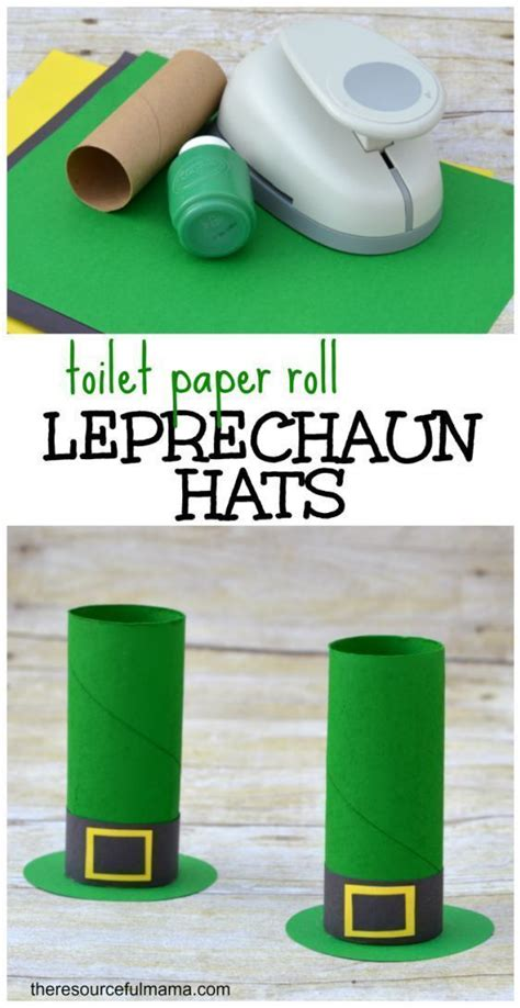 toilet paper roll leprechaun hat craft o brian