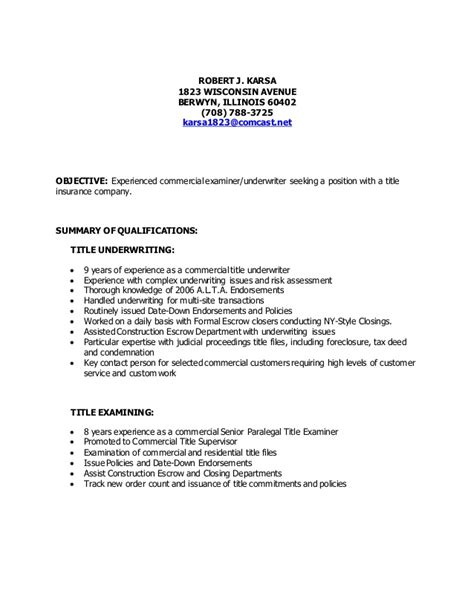 Resume Title Sles by Title In Resume Strong Resume 28 Images Strong Resume Objectives Exle Of Resume Title