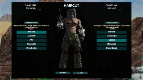 hairstyles ark survival ark survival evolved all hairstyles and beards youtube