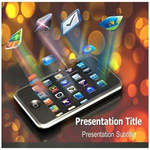 Amazon Com Mobile Apps Powerpoint Template Mobile Apps Powerpoint Ppt Backgrounds Templates T Mobile Powerpoint Template