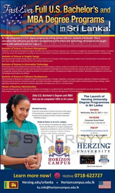 Mba After Masters In Computer Science by Masters Program Masters Programmes Sri Lanka
