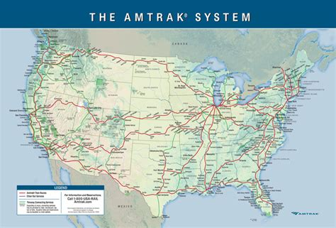 trains in usa map maps update 569400 rail travel usa map a guide to